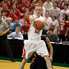 Record-Eagle/Jan-Michael Stump<br /> Suttons Bay's David Wheelock (5) grabs a rebound against Bridgman in the state semifinal game Thursday at the Breslin Center in East Lansing.