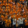 Record-Eagle/Jan-Michael Stump<br /> Bridgman fans watch during their teams loss to Suttons Bay in the state semifinal game Thursday at the Breslin Center in East Lansing.