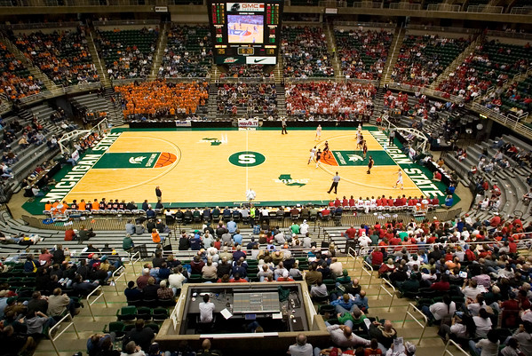 Record-Eagle/Jan-Michael Stump<br /> Suttons Bay defeated Bridgman, 52-38, in the state semifinal game Thursday at the Breslin Center in East Lansing.