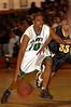 Elmont#10 Sophmore John Brown, #35 Justin Brown, Uniondale. 1-17-2007. Elmont Varsity Basketball vs Uniondale. Photo by Kathy Leistner.