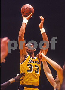 The King, Jabbar, takes a jumper