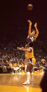 Pete Maravich fires away