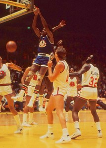 Dr J dunks, Charity All Star Game, LA Forum