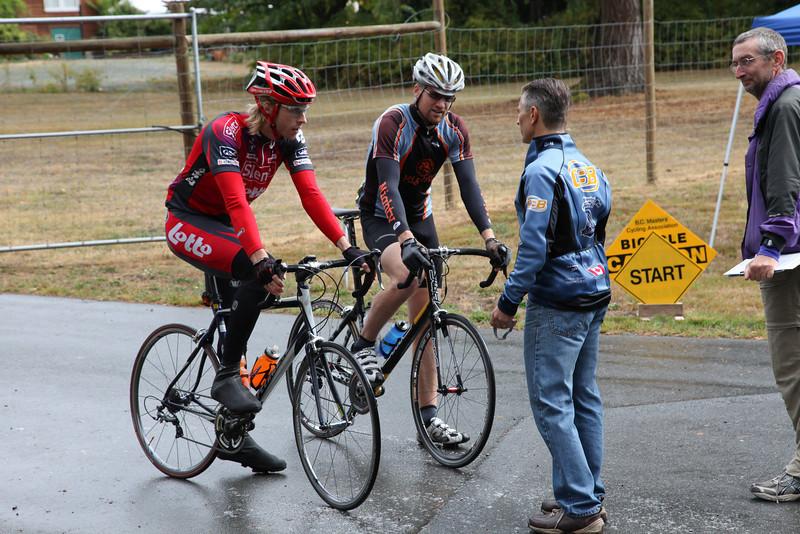 30's: Louis Watson and Shane Savage; Joe Gard and Bruce Falk do the start