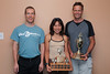Don Gillmore (fastest actual time), May Jung (fastest woman), Derek Tripp (fastest man based on age handicap - zoom in on his trophy to see a few more years with his name)