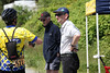 Ray Wagner gets the rules straight with Peter and Bruce Falk (finish line, results)