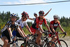 Team Testosterone: Kim Gard, Rhonda Callender, Barb Bialokoz, Shannon Baerg (and super fan Peter)