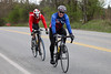 Leo comes around with cadet rider Finn Blackburn (before 40's start)