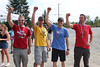 Fastest team: Four Fists of Fury; Jamie Cameron (32), Dan Larche (39), Ryan Clarke (32), John Rogers (40); 1:37:35 (42 km/h) (beat standard by 13:39)