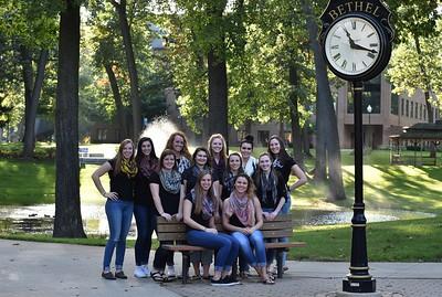 Bethel College Volleyball - Team Photos  October 2016