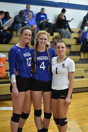 Bethel College Volleyball - Senior Night 2017 vs Huntington