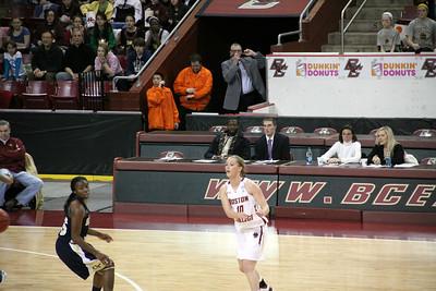 B.C. WOMENS B.B. vs GEORGIA TECH 1-15-2012