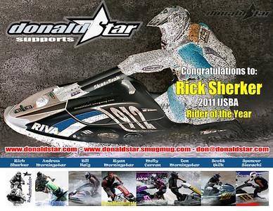 Donaldstar.com team riders featuring IJSBA Pro Rider of the year 2011 Rick Sherker