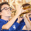 A short trumpet solo accented the middle of the band performance.