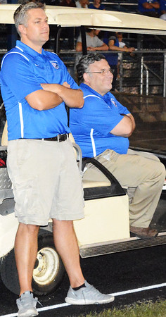 Docs are regularly on duty at the BHS football game, including Dr. Ed Negovetich and Dr. David Welsh. Not pictured is Dr. Thomas Brown.