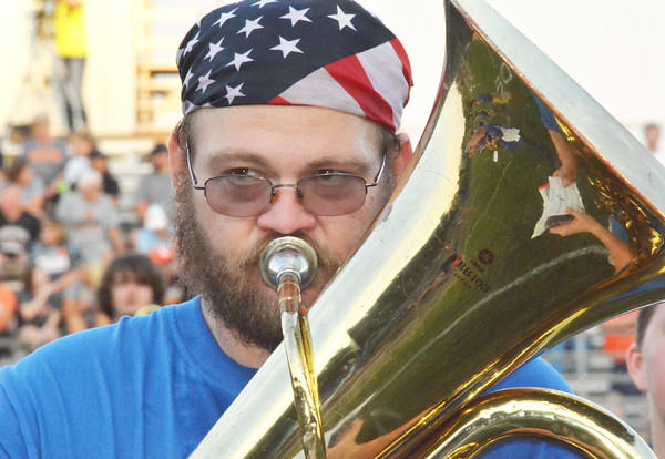 Christopher Aune | The Herald-Tribune<br /> A very American horn played during the BHS Homecoming halftime show.