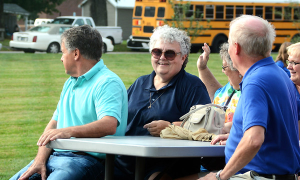 Will Fehlinger | The Herald-Tribune<br /> Marilyn Schwegman and the Batesville High School Class of 1973 were among several reunion floats in this year's parade.