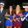 Will Fehlinger | The Herald-Tribune<br /> The 2019 Batesville High School Homecoming prince and princess, juniors Dillon Murray and Olive Cerniglia on the left, stand next to the homecoming queen and king, Ellie Cassidy and Alex Roth, during halftime of Friday's football game.