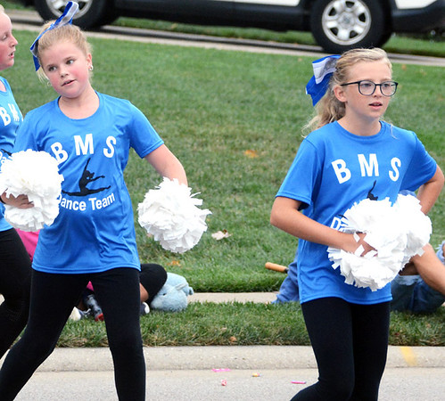 Will Fehlinger | The Herald-Tribune<br /> The Batesville Middle School dance team was part of the homecoming parade festivities Friday afternoon.