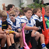 Will Fehlinger | The Herald-Tribune<br /> Some Batesville Youth Football League players rock out Friday as part of the annual homecoming parade.