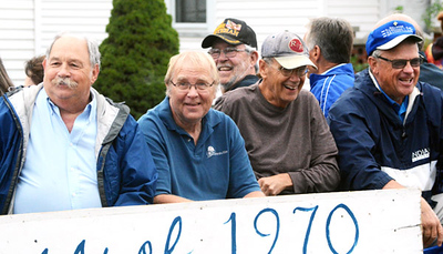 Will Fehlinger   The Herald-Tribune The Batesville High School Class of 1970 is celebrating its 50th reunion this year. Some members of the class enjoy Friday's homecoming parade.