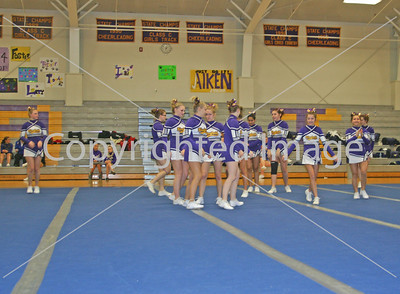BHS cheer at Onsted 12-14-12