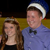 Christopher Aune | The Herald-Tribune<br /> BHS Homecoming Princess Abby Nunlist, a sophomore, and Prince Aiden Bell, a junior, celebrate their crownings.