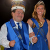 Christopher Aune | The Herald-Tribune<br /> BHS Homecoming King Nick Jacobs and Queen Kelli Hartman shine with joy at halftime.