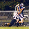 Rich Fowler<br /> Batesville's Austin Siefert pulls in the game-winning touchdown as the Bulldogs defeated Franklin County 29-22 on homecoming night.