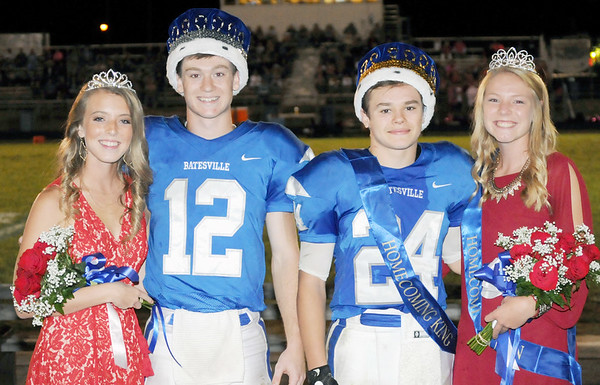 Tristate Studios<br /> The Batesville High School homecoming court for 2017 is: (from left) princess Sophie Brown, prince Trey Heidlage, king Christian Prickel and queen Emma Gausman.