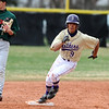 BASEBALL05.JPG BASEBALL<br /> Boulder's Cisco Medina sprints for third.<br /> Photo by Marty Caivano/Camera/March 31, 2010