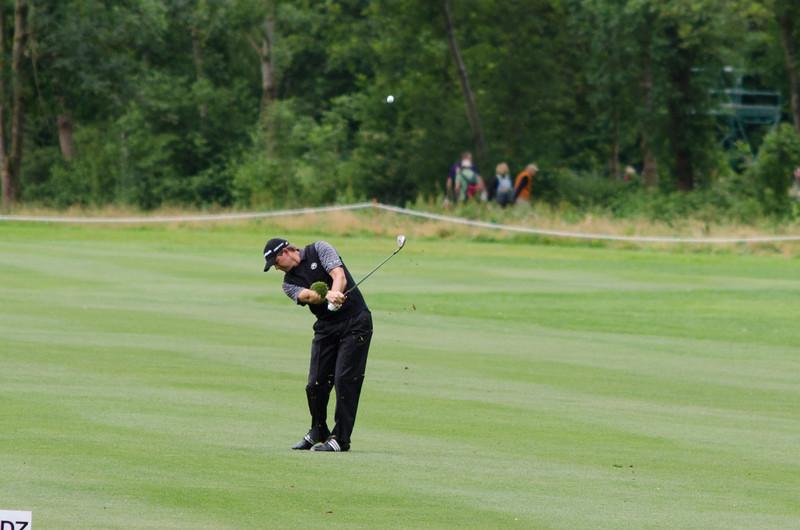 Retief Goosen's approach shot at hole #11.