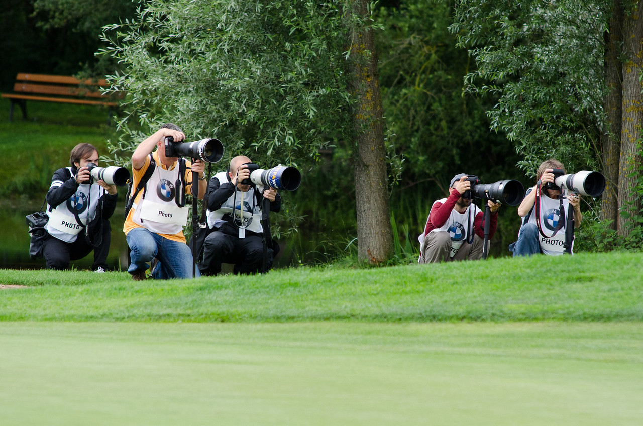 Photo crew of Martin Kaymer's flight.