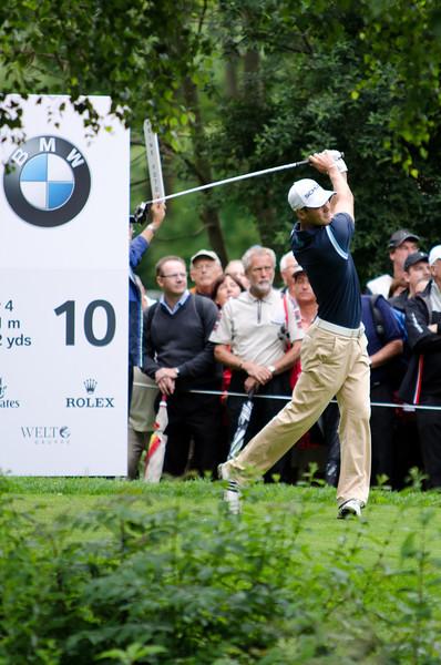 Martin Kaymer teeing off at hole #10.