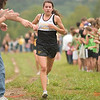 Record-Eagle/Jan-Michael Stump<br /> Traverse City Central's Katie Perkins finished third in the Traverse City West Cross Country Invitational Tuesday at Hickory Meadows.