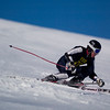 Record-Eagle/Jan-Michael Stump<br /> Traverse City Central's Clark Phelps takes his first giant slalom run in the Titan Invite Thursday at Crystal Mountain.