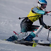 Record-Eagle/Jan-Michael Stump<br /> Traverse City West's Elle Rivard takes her first slalom run in the Titan Invite Thursday at Crystal Mountain.