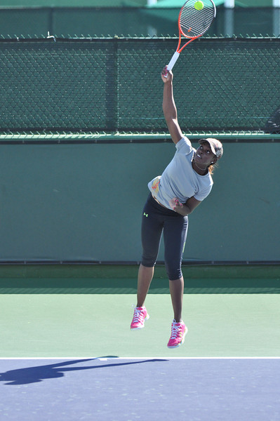 Sloane Stephens on the practice court