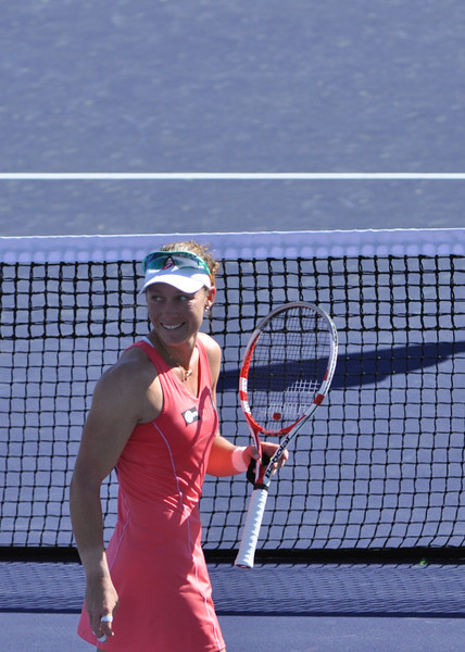 A smile from Samantha Stosur after her win