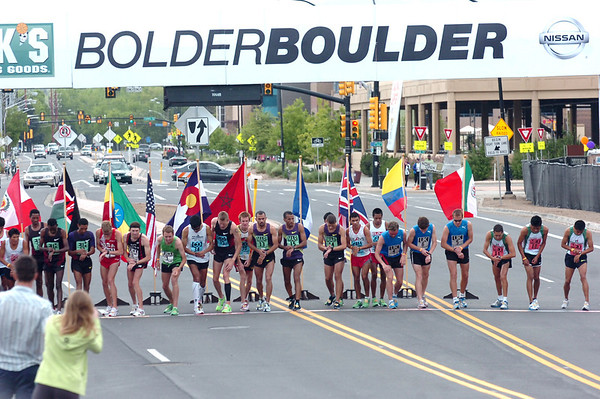 "The start of the 2011 Men's Elite Bolder Boulder Race<br /> For more photos and videos go to  <a href=""http://www.dailycamera.com"">http://www.dailycamera.com</a><br /> Photo by Paul Aiken  / The Boulder Camera"