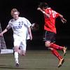 Boulder's #22 Russell Werner defends against Fairview's #12 Seth Falkinburg  at Recht Field Boulder on November 2, 2010. <br /> Paul Aiken / The Camera