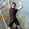 Mackenzie Felkley of Boulder High clears 13 feet in the Pole Vault during their meet against Fairview HIgh  at Recht Field on the Boulder High School Campus on Wednesday March 16, 2011<br /> Photo by Paul Aiken / The Camera