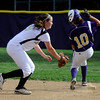 Boulder High's #10 Mia Webb gets safely into second base avoiding the tag by Monarch's #9 Joni Davenport during their game on Monday at Boulder High School.<br /> Photo by Paul Aiken / The Camera