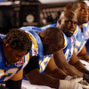 The San Diego Chargers players hang their head during the fourth quarter of their 34-23 loss to the Denver Broncos in the NFL football game Monday, Oct. 19, 2009 in San Diego.  (AP Photo/Denis Poroy)