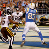 San Diego Chargers wide receiver Vincent Jackson pulls in a three-yard touchdown pass against the Denver Broncos during the first quarter of an  NFL football game Monday, Oct. 19, 2009 in San Diego. (AP Photo/Denis Poroy)