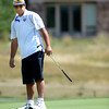 "Pat Lalancette watches a putt during a team qualifying round at the Eagle Trace Golf Club in Broomfield Colorado on Monday August 6. 2012.  For more photos go to  <a href=""http://www.bocopreps.com"">http://www.bocopreps.com</a>.<br /> Photo by Paul Aiken / The Daily Camera"