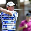 """Bridger Ryan tees off during a team qualifying round at the Eagle Trace Golf Club in Broomfield Colorado on Monday August 6. 2012.  For more photos go to  <a href=""""http://www.bocopreps.com"""">http://www.bocopreps.com</a>.<br /> Photo by Paul Aiken / The Daily Camera"""