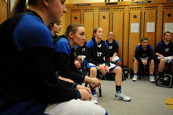 20110311_BKOL_BROOMFIELD_KATUNA_PREGAME.JPG Longmont's Jamie Katuna, center, and the team listen to coach Jay Darien before they take on Broomfield in the Class 4A Championship game at Coors Events Center in Boulder on Friday, March 11, 2011. (Joshua Buck/Times-Call)