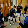 20110311_BKOL_BROOMFIELD_MEIER_TEAM.JPG Longmont's Erica Meier, center, and the team take part in their pregame dance in the lockerroom before taking on Broomfield in the Class 4A Championship game at Coors Events Center in Boulder on Friday, March 11, 2011. (Joshua Buck/Times-Call)