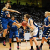 20110311_BKOL_BROOMFIELD_CARPENTER_NEHF.JPG Longmont's Megan Carpenter ducks just as Broomfield's Katie Nehf tries to block a shot in the Class 4A Championship game at Coors Events Center in Boulder on Friday, March 11, 2011. (Joshua Buck/Times-Call)